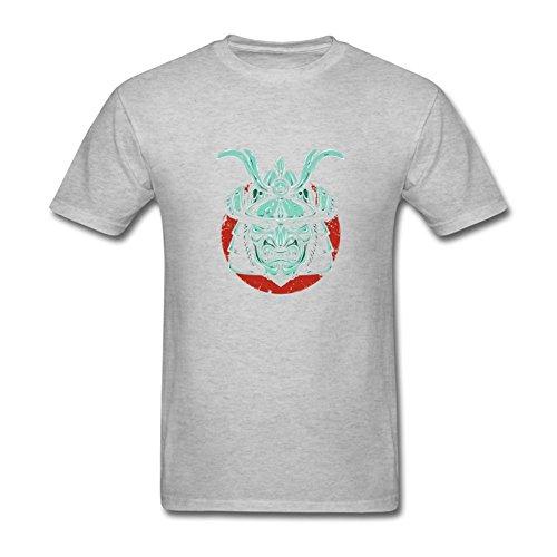 [Zxcvgoo Fashion Men's Samurai Mask Short Sleeve T shirt S] (Barack Obama Face Mask)