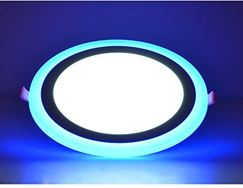 eSaveBulbs LED Panel Light Double Colors Changing Blue White 6+3W Led Recessed Light Ceiling Panel Party Decoretion Light Fixtures AC 85V~265V