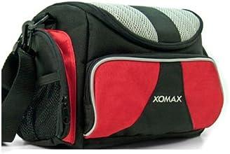 XOMAX XM-TT105 Fahrrad Lenkertasche mit Musik + Lautsprecher und Verstärker integriert + Anschluss für iPod, MP3 Player etc. + Musik für unterwegs + Farbe: Rot / Schwarz
