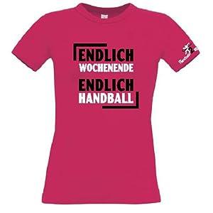 HANDBALL2GO Fun-Shirt Endlich Wochenende Damen Größe XL