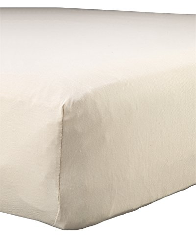 "Abstract Baby Solid Jersey Knit Fitted Crib Sheet (24"" x 38"", Beige)"