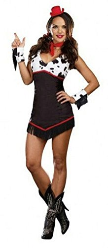 Coslove Ridin' Broncos Sexy Cowgirl Adult Costume LARGE
