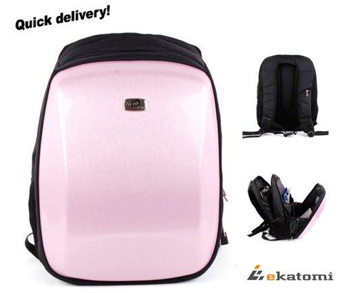 Cabon Fiber Look, Hard Case Backpack Laptop Travel