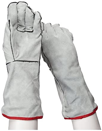 """IRONCAT 930 Cowhide Leather Welder Glove, Gauntlet Cuff, 14"""" Length, Large (Pack of 12 Pairs)"""