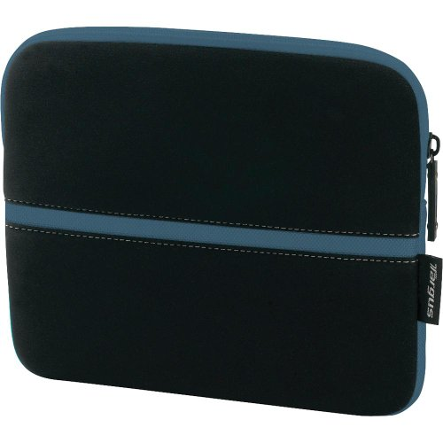Targus Neoprene Slipskin Peel Netbook Slip Case Designed to Protect up to 10.2-Inch Netbooks TSS11101US (Black with Teal)