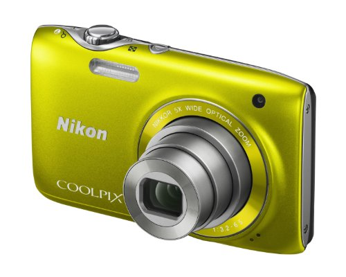 Nikon Coolpix S3100 Digital Camera – Yellow (14MP,