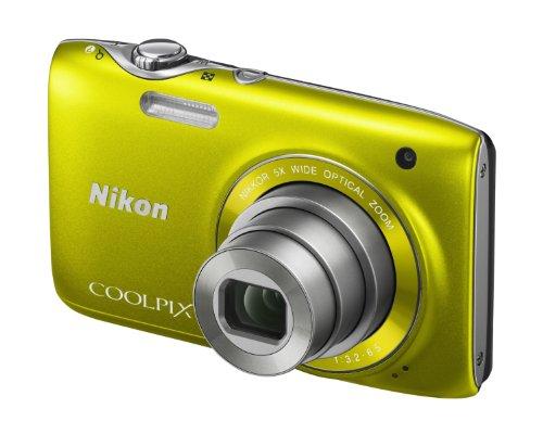 Nikon Coolpix S3100 Digital Camera - Yellow (14MP,
