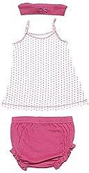 BIO KID Clothing Set for Kids (BG1I-T208-80_9-12 Months, 9-12 Months, Dark Pink)