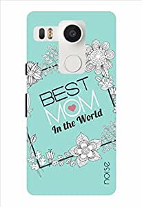 Noise Best Mom-Floral Frame Printed Cover for LG Nexus 5X