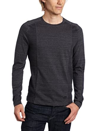 Calvin Klein Sportswear Men's Rib Knit Long Sleeve Shirt,Frog Heather,Small