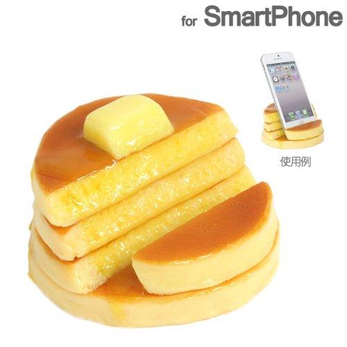 各種 スマートフォン 対応 食品サンプル スマホ スタンド (ホットケーキ)