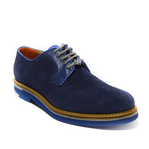 Brimarts scarpa stringata uomo pelle blu made in italy art.319664 44