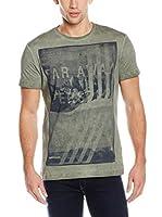 Gas Jeans Camiseta Manga Corta (Oliva)