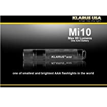 Klarus Mi10 AL Flashlight 85 Lumens XP-G R5 LED Uses 1 x AAA, Black Mi10AL