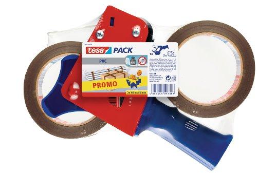 tesa-Packband-Abroller-mit-2-Rollen-tesapack-66m-x-50mm