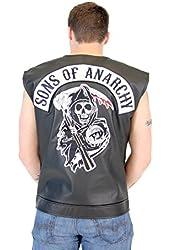 SOA Sons of Anarchy Black Leather Highway Biker Vest