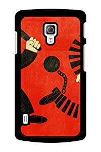 Caseque Crime Hindrance Back Shell Case Cover For LG L72