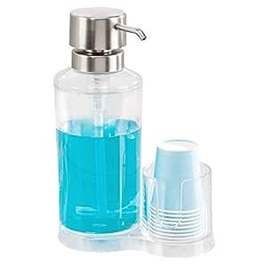 InterDesign Clarity Mouthwash Pump Dispenser