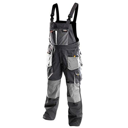 Profi-Arbeitslatzhose-schwarzgrau-neo-Latzhose-Arbeitskleidung-Arbeitshose-560