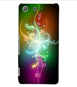 ColourCraft Colourful Flower Design Back Case Cover for SONY XPERIA M5 E5603 / E5606 / E5653