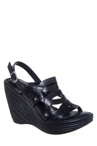 Born Genesis High Wedge Ankle Strap Sandal - Black