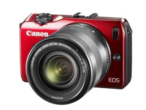 Canon ミラーレス一眼カメラ EOS M レンズキット EF-M18-55mm F3.5-5.6 IS STM付属 レッド EOSMRE-18-55ISSTMLK