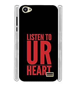 Listen to Your Heart Soft Silicon Rubberized Back Case Cover for Intex Star II HD :: Intex Star 2 HD
