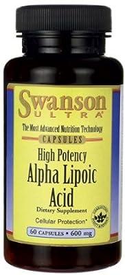 Alpha Lipoic Acid 600 mg 60 Caps by Swanson Ultra