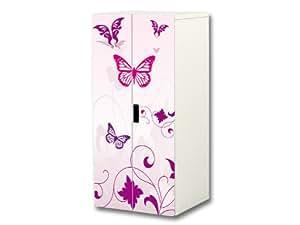 pink world aufkleber set passend f r den kinderzimmer schrank stuva von ikea korpus 60 x 128. Black Bedroom Furniture Sets. Home Design Ideas