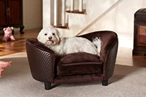 luxury dog bed ultra snuggle brown pattern small dog chair. Black Bedroom Furniture Sets. Home Design Ideas