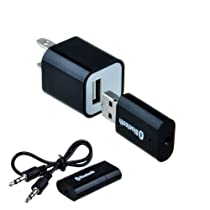 VicTsing Portable USB Bluetooth Audio Music Streaming Receiver Adapter with 3.5 mm Stereo Output Black