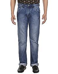 Fever Men's Denim Blue Solid Jeans (NI_22_60108_3-38)