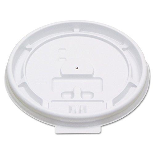 Boardwalk 8TABLID Hot Cup Tear-Tab Lids, 8 oz, White (10 Sleeves of 100)