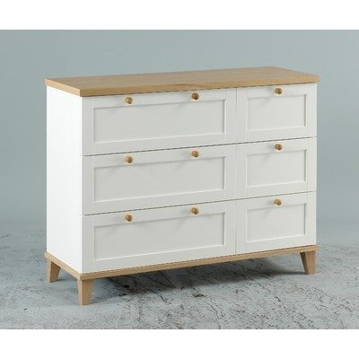 Chicago Three Drawer Chest in White