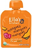 Ella's Kitchen Organic Stage 1, Mangoes Mangoes Mangoes, 2.5 Ounce (Pack of 6) [Packaging May Vary]