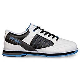 KR Strikeforce L-053-080 Mist Bowling Shoes, White/Black/Blue, Size 8