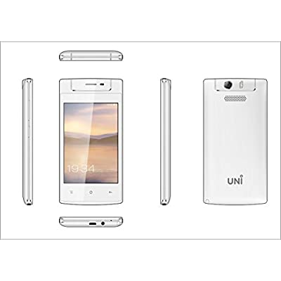 UNI N6100 Three SIM Feature Phone with Touch Screen-White