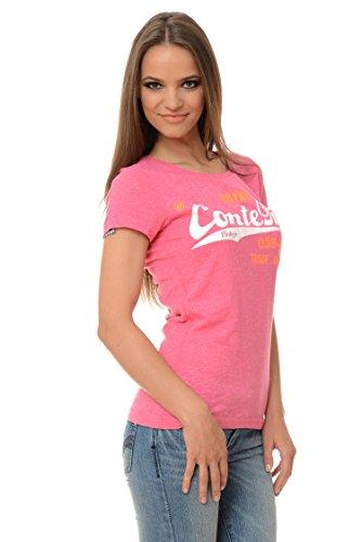 M.Conte signore T-shirt manica corta T-shirt sudore neon rosa Viola Grigio Blue Rose Rosso Verde Nero S M L XL Colore Rosa Rosa XL
