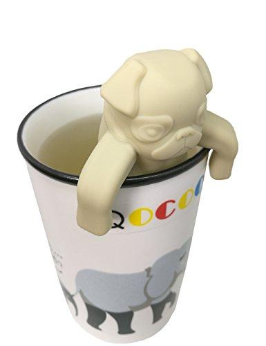 QOCOO Pack of 2 Dog shape Loose Leaf Food-Grade Silicone Tea Infuser Strainers Filter for Black Tea, Green Tea, Scented Tea,Loose Tea and Bagged Tea
