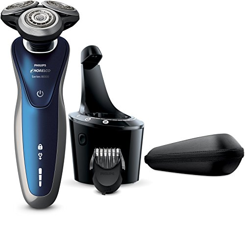 Philips Norelco Electric Shaver 8900 with SmartClean, Wet & Dry Edition S8950/90 (Mens Wet Dry Razor compare prices)