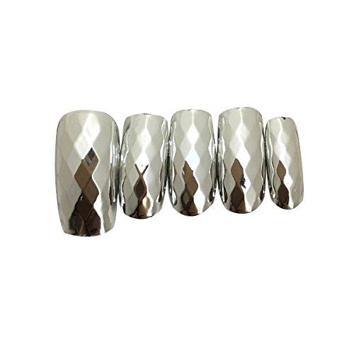< OMD > Feel soft Nail tip No.18 ダイヤモンドカットシルバー ( 84枚入り ) [ ペディキュアチップ フットネイルチップ 足用ネイルチップ ペディチップ 付け爪 ]