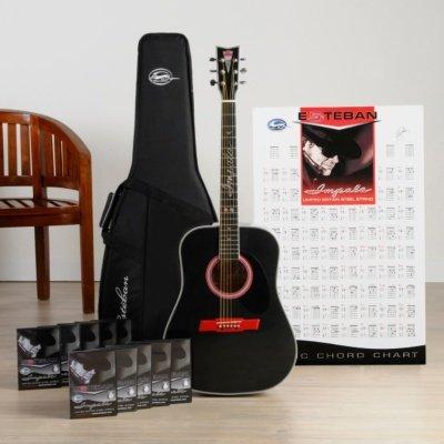 esteban impala 50th anniversary acoustic electric guitar packa. Black Bedroom Furniture Sets. Home Design Ideas