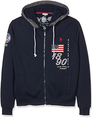 U.S.POLO ASSN. 1899 Hoody Fleece, Felpa Uomo, Navy, XL