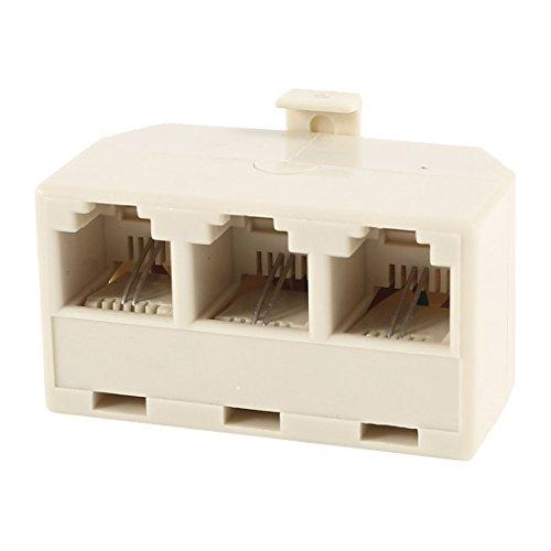 Male 6P2C To 3 Port Female Rj11 Telephone Cable Converter Splitter