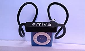 Arriva iPod Shuffle headphones with in-ear earbud, regular black