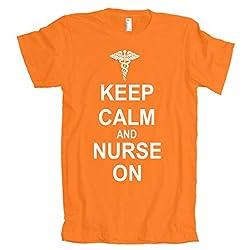 Keep Calm And Nurse On American Apparel T-Shirt