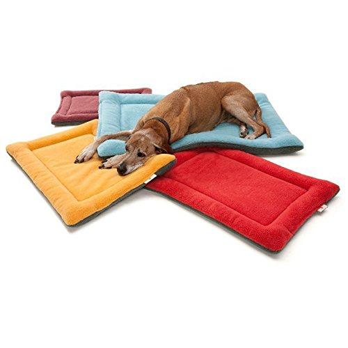 Vivi Bear Comfy Fleece Soft Pet Dogs Cat Warm Sleeping Mat, Puppy Or Kitty Nap Sleeping Bed Caushion Pet Matress Crate Bed Burgundy (XS (19.5 x 14 x 1.5 Inch))