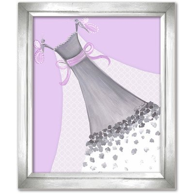 Doodlefish DB1700prp-Silver Butterfly Couture Artwork, Silver Frame