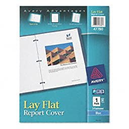 Lay Flat Report Cover [Set of 2] Color: Clear / Blue