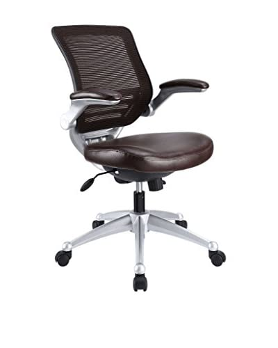 Modway Edge Leather Office Chair, Brown